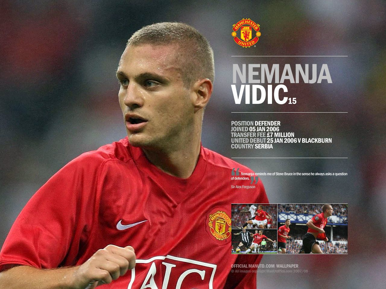 Nemanja Vidic career stats height and weight age